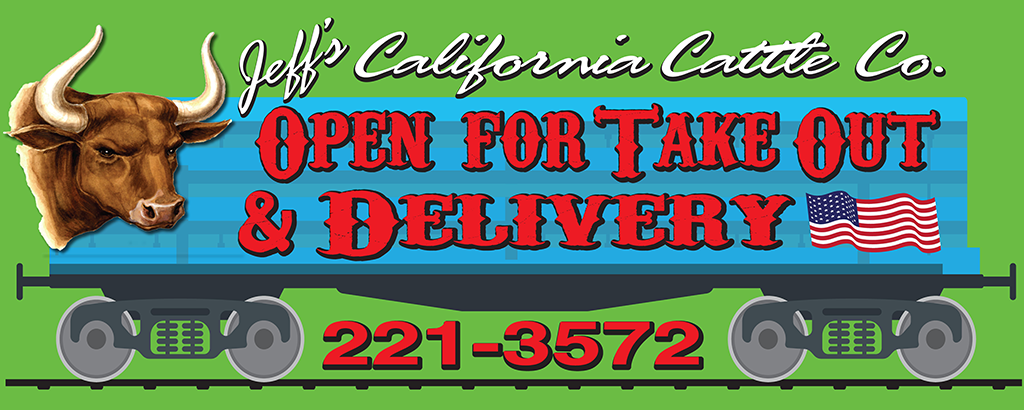 Open For Take Out & Delivery